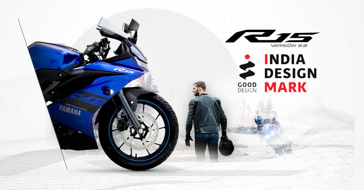 Yamaha R15 gana el India Design Award